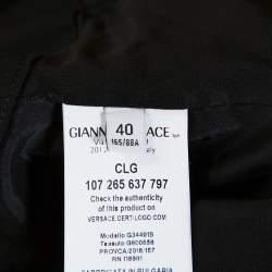 Versace Collection Black Knit Shoulder Zip Detail Sleeveless Dress S