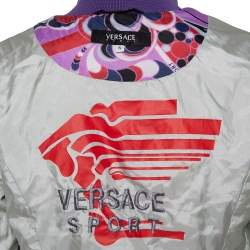 Versace Sport Multicolor Synthetic Quilted Bomber Jacket S