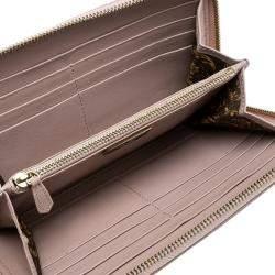 Versace Blush Pink Quilted Leather Vanitas Zip Around Wallet