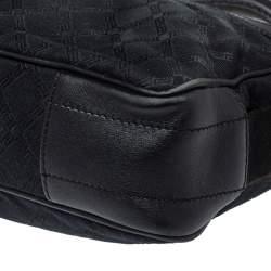 Versace Black Monogram Canvas and Leather Laptop Bag