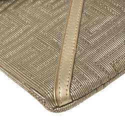 Versace Chain Gold Fabric Gianni Couture Envelope Chain Clutch