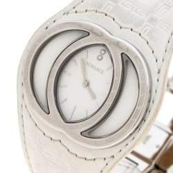 Versace White Stainless Steel Eclissi 74Q Women's Wristwatch 39 mm