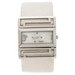 Versace Mother of Pearl Stainless Steel Beauville VSQ99 Women's Wristwatch 38 mm