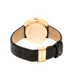 Versace Rose Gold Plated stainless Steel Thea VA7 Women's Wristwatch 39 mm