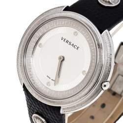 Versace Silver Stainless Steel Thea A7Q Women's Wristwatch 39MM