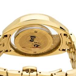 Versace White Yellow Gold Stainless Steel Destiny Spirit 86Q Women's Wristwatch 39 mm