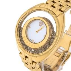 ساعة يد نسائية فيرساتشي ديستني سبيريت 86كيو ستانلس ستيل لون ذهبي بيضاء 39 مم