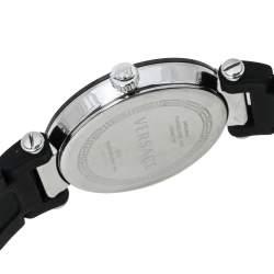 Versace Black Ceramic and Stainless Steel Diamond Reve 92Q Women's Wristwatch 35 mm