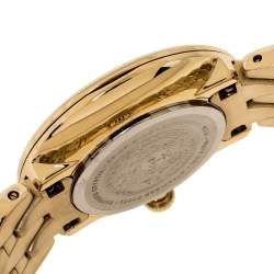 Versace Gold Tone Stainless Steel V-Flare VEBN Women's Wristwatch 28 mm