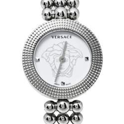 Versace White Stainless Steel Eon Soiree 94Q Quartz Women's Wristwatch 27 MM
