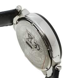 Versace White Stainless Steel Leather Mystique VFG01 0013 Men's Wristwatch 46 mm