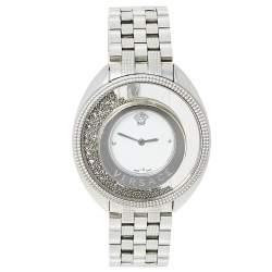 ساعة يد نسائية فيرساتشي ديستني سبيريت 86Q ستانلس ستيل بيضاء 39مم