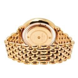Versace Gold Tone Stainless Steel Venus VFH Women's Wristwatch 39 mm