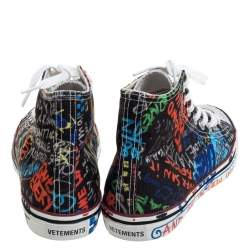 Vetements Multicolor Top High Graffiti Sneakers Size 39