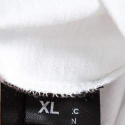 Vetements White I Make Boys Cry Printed Cotton Crewneck T Shirt XL