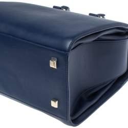 Victoria Beckham Navy Blue Leather Liberty Satchel