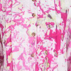 Vivienne Westwood Anglomania Multicolor Watercolor Print Long Sleeve Playsuit S