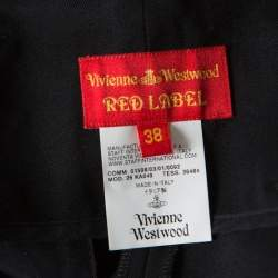 Vivienne Westwood Red Label Black Wool High Waisted Tailored Trousers S