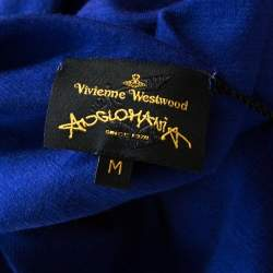 Vivienne Westwood Anglomania Blue Stretch Knit Wool Ruched Deity Top M