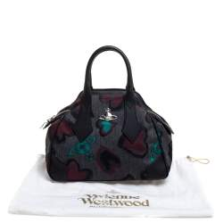 Vivienne Westwood Multicolor Printed Fabric and Leather Derby Satchel