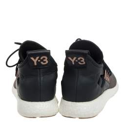 Adidas Y-3 Olive Green/Gray Leather And Stretch Fabric Qasa Elle Sneaker Size 37.5