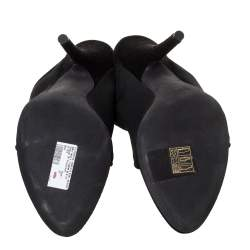 Yeezy Black Stretch Knit Season 6 Mule Sandals Size 37