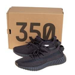 Yeezy x adidas Black Knit Fabric Boost 350 V2 Cinder Sneakers Size 37 1/3