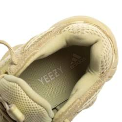 Yeezy x Adidas Lime Green Leather And Fabric 500 Stone Sneakers Size 36.5