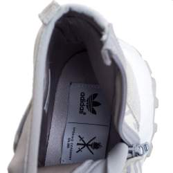 Adidas Torsion x Opening Ceremony Grey/White Suede, Fabric And Leather Zipper Detail Boots Size 40.5