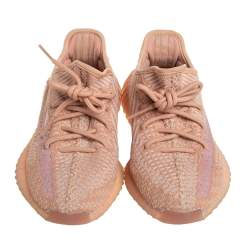Yeezy x adidas Clay Knit Fabric Boost 350 V2 Sneakers Size 36 2/3