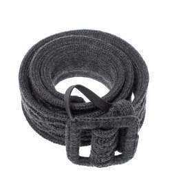 Yves Saint Laurent Grey Knitted Waist Belt 85CM