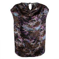 Yves Saint Laurent Multicolor Printed Silk Sleeveless Top M