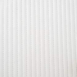 Saint Laurent Paris White Chevron Leather Babylone Chain Bag