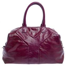 Yves Saint Laurent Purple Patent Leather Easy Y Tote
