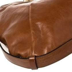 Yves Saint Laurent Brown Leather Mombasa Hobo