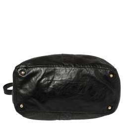Yves Saint Laurent Black Leather Double Sac Y Tote