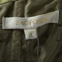 Zac Posen SS'13 Linden Green Strapless Dress S