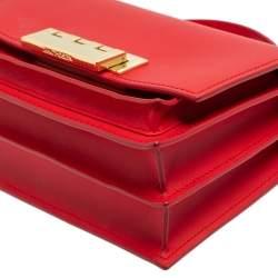 Zac Posen Red Leather Eartha Chic Top Handle Bag