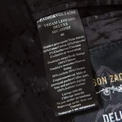 Zadig and Voltaire Deluxe Monochrome Jacquard Vegam Leo Blazer M