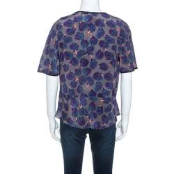 Zadig and Voltaire Multicolor Printed Silk Toy Rose Top M