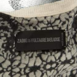 Zadig and Voltaire Monochrome Foil Print Ninon Cardigan S