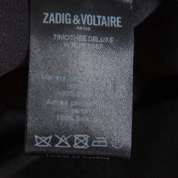 Zadig and Voltaire Black Silk Timothee Deluxe Shirt S