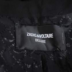 Zadig and Voltaire Black Synthetic Stone Embellished Deluxe Jacket S