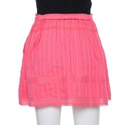 Zadig and Voltaire Pink Cotton Joxini Skirt S