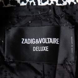 Zadig & Voltaire Deluxe Monochrome Jacquard Vegam Leo Blazer M
