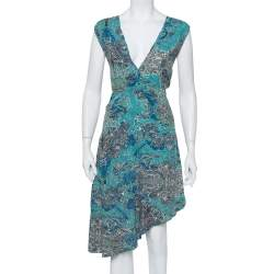 Zadig and Voltaire Green Printed Knit Sleeveless Root Dress M