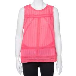 Zadig and Voltaire Pink Cotton Sleeveless Tank Top L