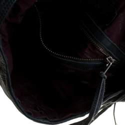 Zadig & Voltaire Blue Leather Baguette Hippy Lave Hobo