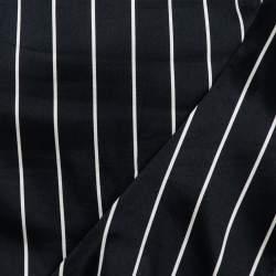 Zimmermann Black Striped Textured Cotton Asymmetric hem Midi Skirt L