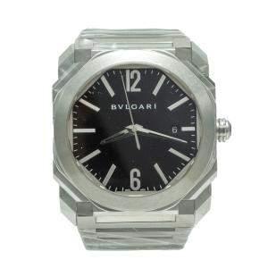 Bvlgari Octo Roma Black Dial Stainless Steel Men's Watch 41MM